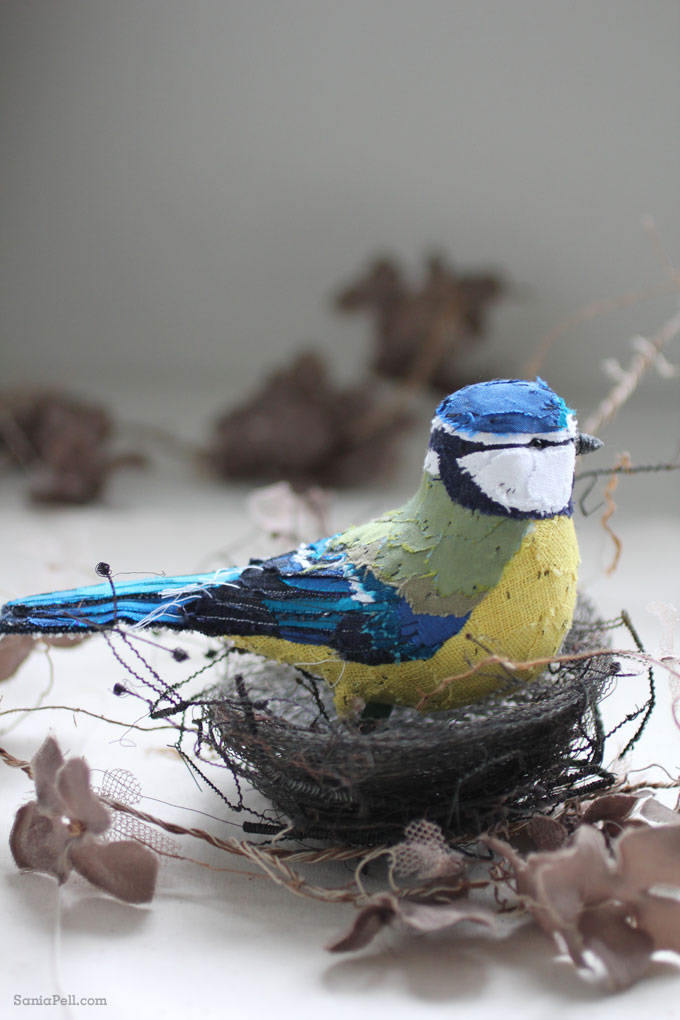 handmade blue tit bird by Abigail Brown - Photo by Sania Pell
