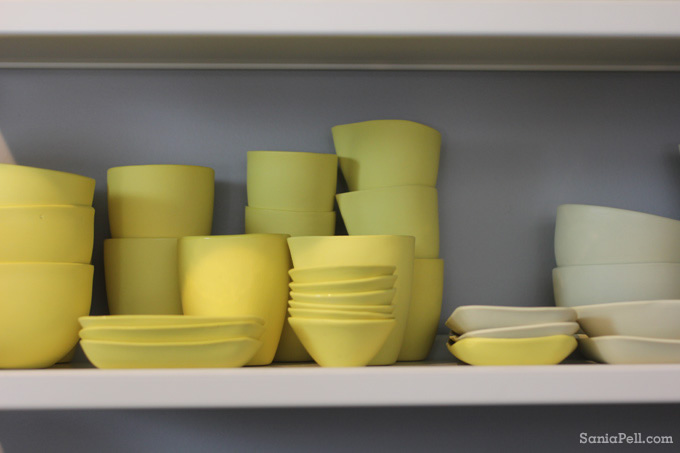 Mud Australia yellow ceramics - photo by Sania Pell