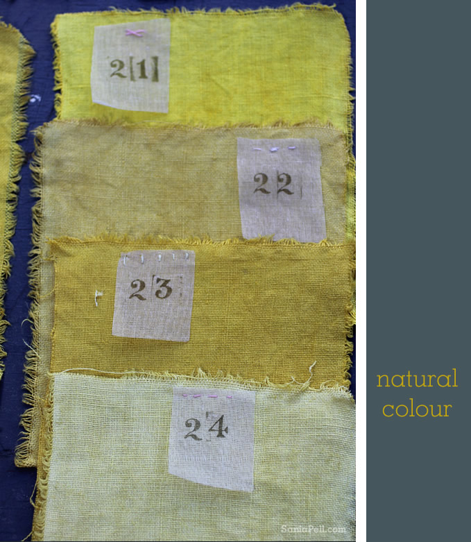 Homemade natural colour dyes by Sania Pell