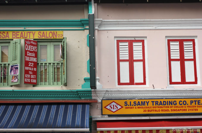 Details of Little India, Singapore by Sania Pell