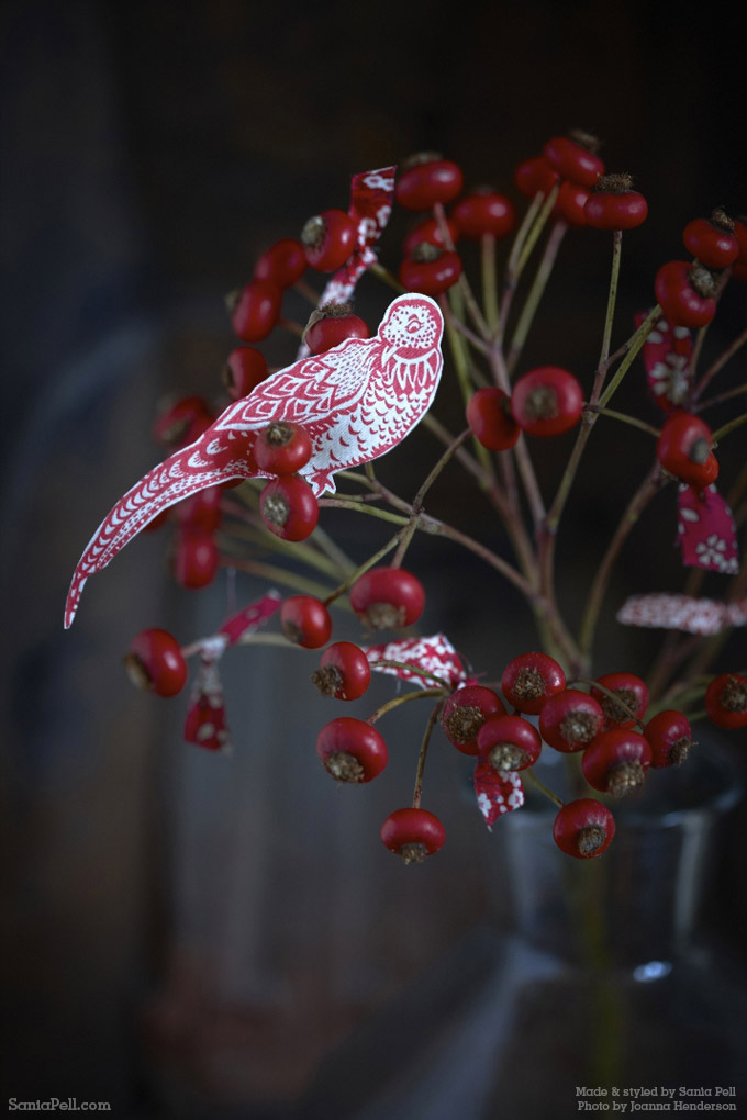 Liberty print Christmas decoration by Sania Pell ©2013 Photo by Jo Henderson