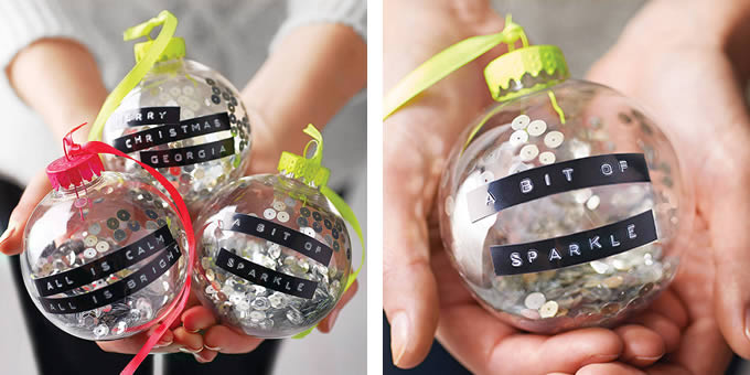 Sania Pell's neon pop baubles available at Notonthehighstreet.com, made by The Letteroom