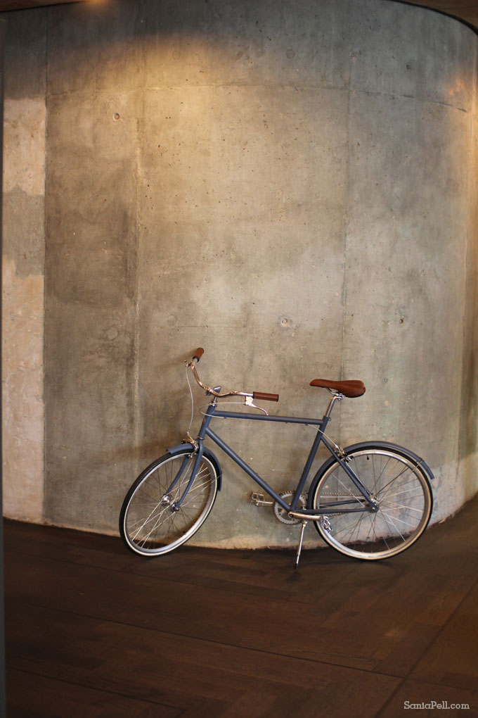 Ace Hotel bicycle in London Shoreditch by Sania Pell