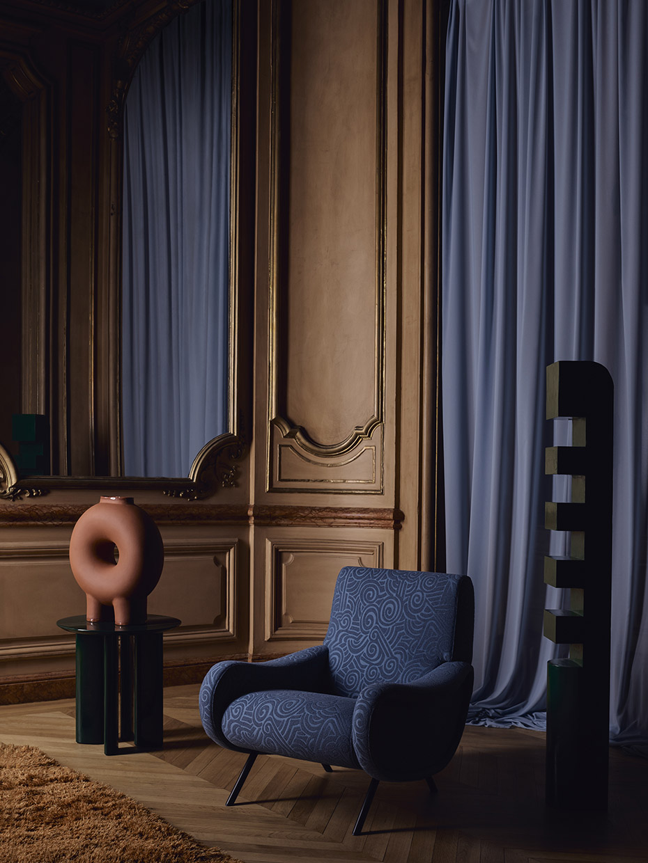 Interior Stylist Sania Pell for Sahco at Deco Off. Photographer Beth Evans.